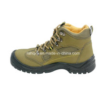 Нубука кожи защитную обувь с сетчатая подкладка (HQ03052)