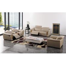 Sofá de la sala de estar con el sistema moderno del sofá del cuero genuino (422)