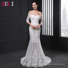 SL013 Vintage 2016 avec manches longues manches longues Robe de mariée en dentelle