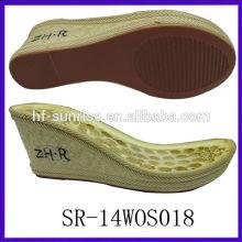 SR-14WOS018 ladies sandals pu sole italian pu sole pu outsole ladies pu sole