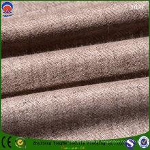 Impermeável fr Blakout poliéster / tecido de linho para cortina