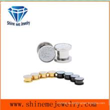 Body Jewelry Acero inoxidable Millstone Ear Plug