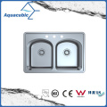 Above Counter Stainless Steel Moduled Kitchen Sink (ACS 3322FM)