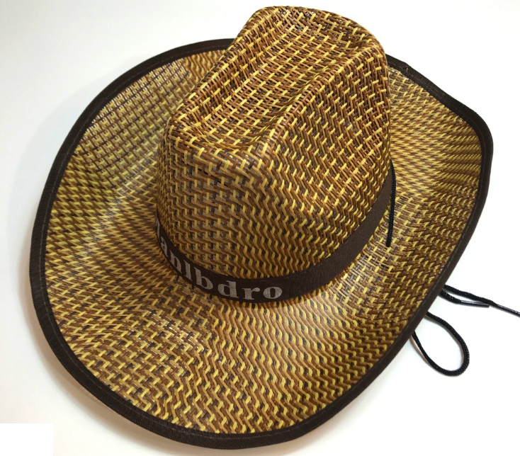 Stakerope Straw Hat Black