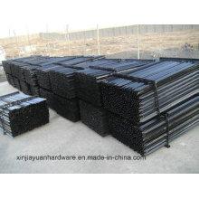 2.04kg / M Piquet noir en acier peint et galvanisé noir