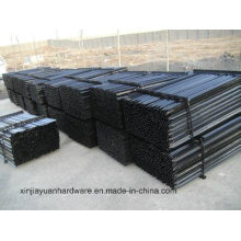 2.04kg/M Black Painted and Galvanized Steel Star Picket