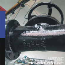 Válvula de diafragma recta de hierro fundido