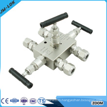 1/2'' NPT 6000PSI stainless steel 3 way valve manifold