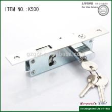Латунный цилиндр Цилиндровый цилиндр Зажим для болта с крюком Раздвижная дверная блокировка