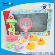 Interesting eco-friendly baby bath duck bath toy set