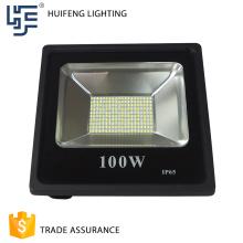 High lumen meanwell saving ip65 warranty 100w solar led flood light
