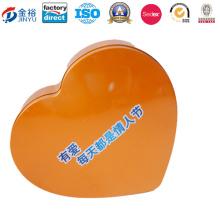Big Heart Shape Boîte en étain pour paquet alimentaire Jy-Wd-2016092403
