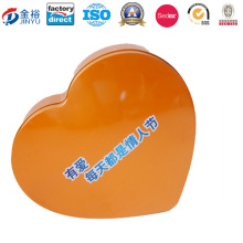 Big Heart Shape Tin Box for Food Package Jy-Wd-2016092403