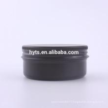 different volume empty matte black aluminium jar cosmetic