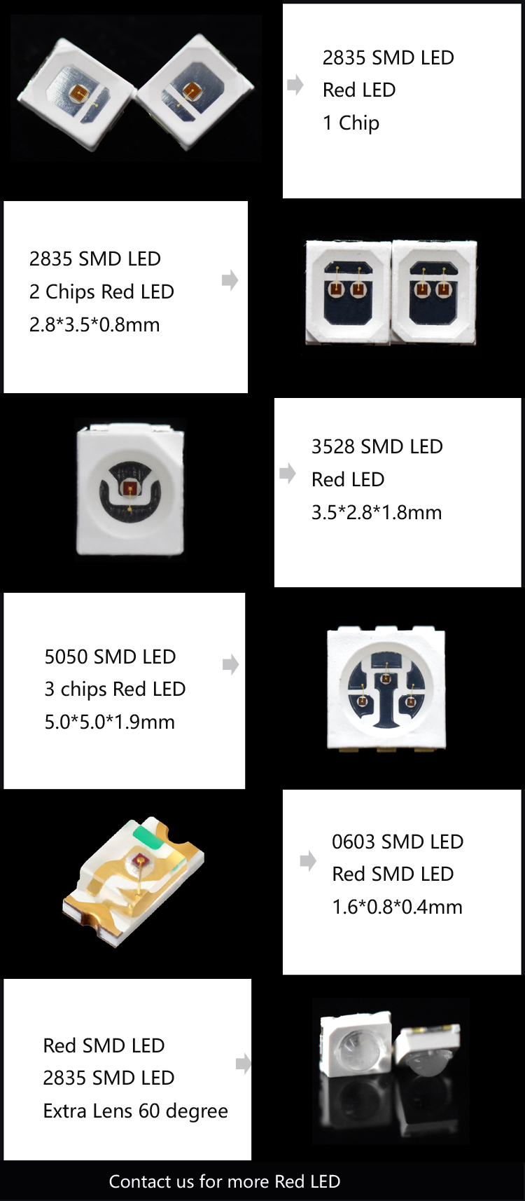 660nm SMD 3CHIPS LED