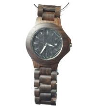 Relojes de madera causales hechos a mano Japón Movt cuarzo bambú madera de sándalo Watc