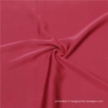 58 pouces Spandex Satin Polyester Tissu teint en mousseline de soie