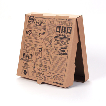 Custom Eco-Friendly Materials Pizza Box med handtag