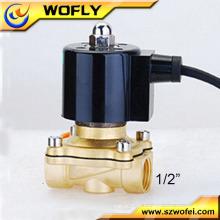 China Industrial normalmente fechado latão 120v água solenóide válvula 1/2