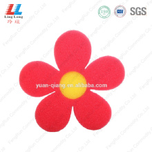 Alluring flower helpful bath sponge
