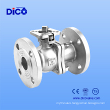 New Type GB Stainless Steel Floating Ball Valve with New Mounting Pad