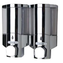 Dispensador de jabón público de plástico cromado de alta calidad de 400 ml * 2