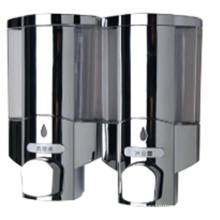 High Quality 400ml * 2 Chrome Plastic Public Soap Dispenser