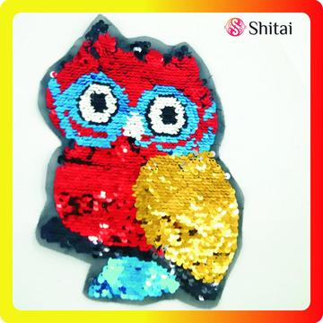 colors owl reversible patch