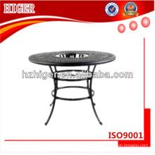round aluminum cast table furniture