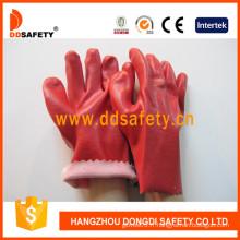 Gants 100% de PVC de doublure de coton, fini lisse (DPV111)