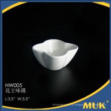 Новый прямоугольный дизайн фарфоровая маленькая тарелка для гостиницы