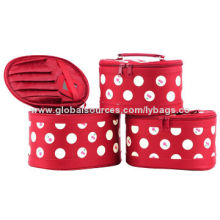 Polyester Cosmetic Bags, Made of Microfiber/Sized 19.5x13.5x11.5cm/Useful Inner Design/Many Colors