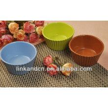 KC-04007 bol de pudding de ceramique en gros, bols colorés