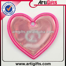 Customized design heart shape reflective tag