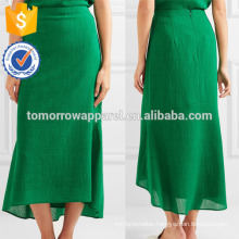 New Fashion Asymmetric Crepe Midi Summer Daily Skirt DEM/DOM Manufacture Wholesale Fashion Women Apparel (TA5107S)