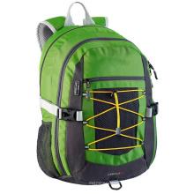 Moda primavera verde mochila saco leve para viagens