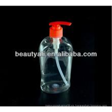 Botella de jabón líquido transparente