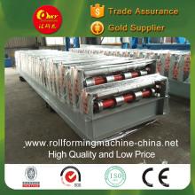 Máquina de telha de pressão fria de camada dupla para painéis de cauda de cauda diferentes