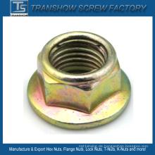 Metalleinsatz Sechskantflansch-Sicherungsmutter