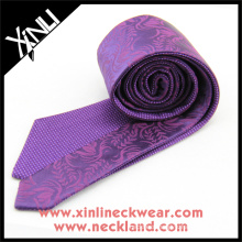 Purple Paisley Geometrical Reversible Wholesale Neckties