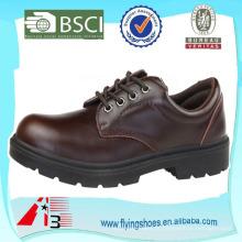 Composta toe homem sapatos de trabalho de couro sapatos de segurança