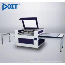 Décalage automatique de matériel de DT10086Non-mental découpant au laser de double-table et machine de découpage
