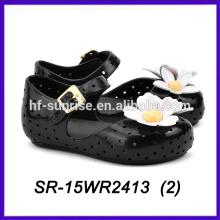 Черная обувь лепестков дети дети мини мелисса мелисса обувь