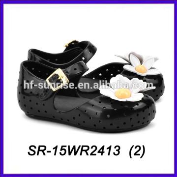 Schwarze Blütenblatt Schuhe Kinder Kinder Mini Melissa Melissa Schuhe