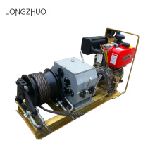 Diesel Engine Powered Winch dengan Wire Tali