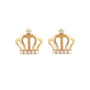 Princess Crown Ohrstecker K Gold