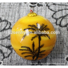 Inner Hand Painted Glass Christmas Ornament