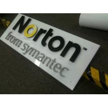 Logotipo personalizado de la oficina de la placa de acrílico 3D (ID-07)