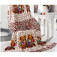 Downy Coral Fleece Blanket For Adult And Children , Home And Hospital Use