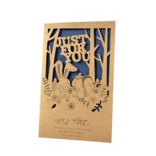 Tarjeta de felicitación de papel hueco de encargo del nuevo diseño 2017